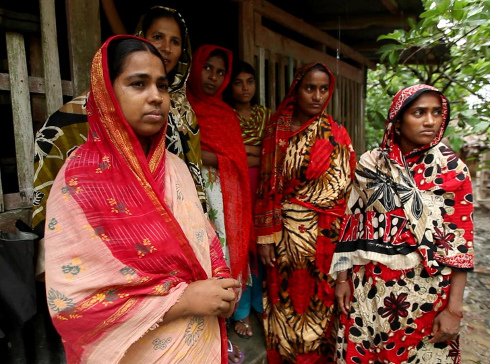 Women in rural village, southern Bangladesh, 2011