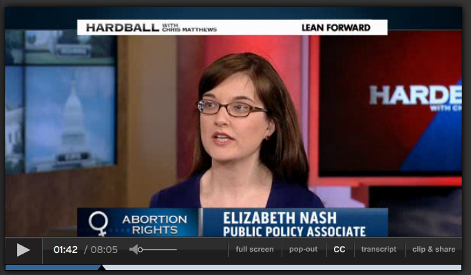 Elizabeth Nash on Hardball
