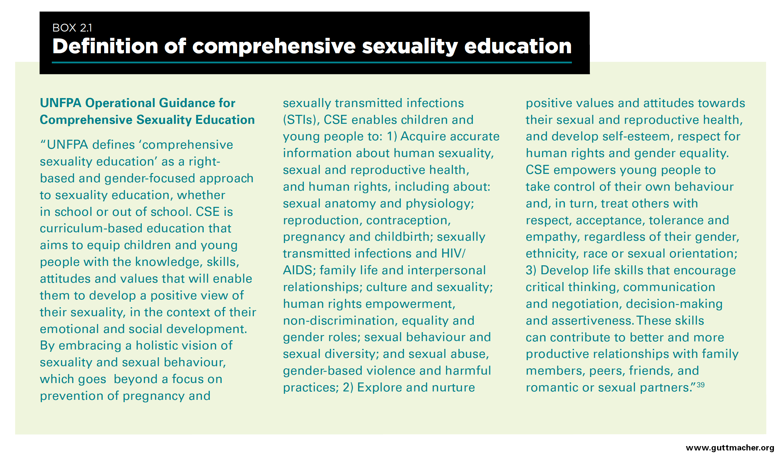 Sexuality education defined