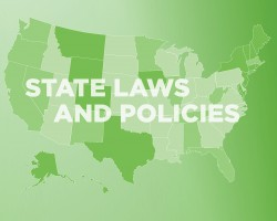 "U.S. state map with text ""State Laws and Policies"""