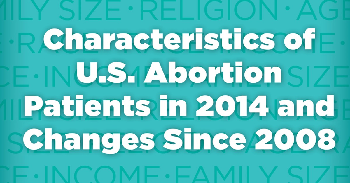 Characteristics of U S  Abortion Patients in 2014 and