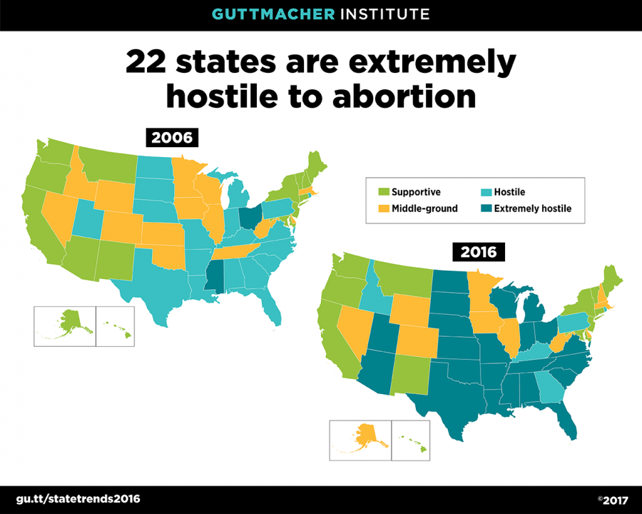 Policy Trends In The States Guttmacher Institute - Us abortion map
