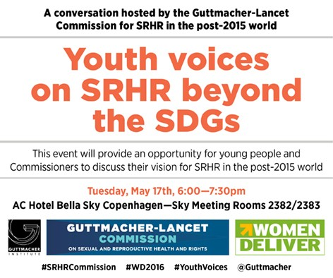 Invitation for SRHR Commission Side Event at Women Deliver 2016